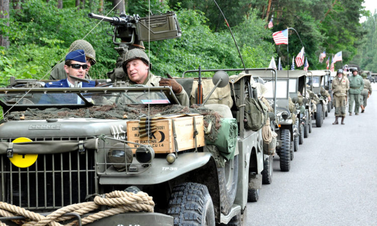 Maj. Adam Knox of the Embassy's Office of Defense Cooperation participated in the ride 240 MILES TO FREEDOM of U.S. historcal military vehicals commemorating the Demarcation Line on June 24, 2015. (photo U.S. Embassy Prague)