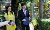 Ambassador Andrew Schapiro and his wife Tamar Newberger (photo U.S. Embassy Prague)