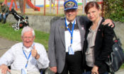 """Cultural Attaché Sherry Keneson-Hall and two U.S. veterans of the battle, Loy Dickinson and Chuck Childs, attended commemorative events on August 30, 2014. (photo Libor Lukáš)"