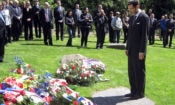 Ambassador Eisen attends wreath laying ceremony at the Lety memorial on May, 10, 2014.