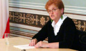 Dr. Deborah Lipstadt speaks at the American Center about the dangers of Holocaust denial theories, June 16, 2014.
