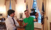 Freescoot with Ambassador Schapiro