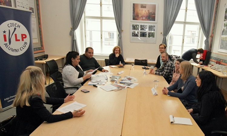NGO Slovo 21 Project Managers Martina Horvathova and Michal Miko led a roundtable at the U.S. Embassy's American Center.