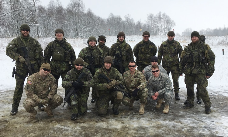 Urban Area Reconnaissance held in Prostejov 29 Feb to 2 March with the 102nd Recce Battalion, 53rd EW and Recce Regiment to discuss and exchange methods of Urban Area Reconnaissance to include planning, infiltration/exfiltration, site selection, reporting, and execution.