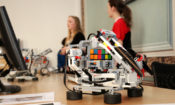 Robot demonstrations by students from Czech Technical University.