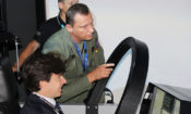 Ambassador Schapiro at the Tactical Simulation Center
