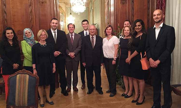 Members of the Czech Muslim community along with Czech NGO and government representatives attended an Iftar this week hosted by Charge d'Affaires Kelly Adams-Smith in honor of Ramadan.