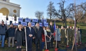 Ambassador King Plants Final Tree of Liberty