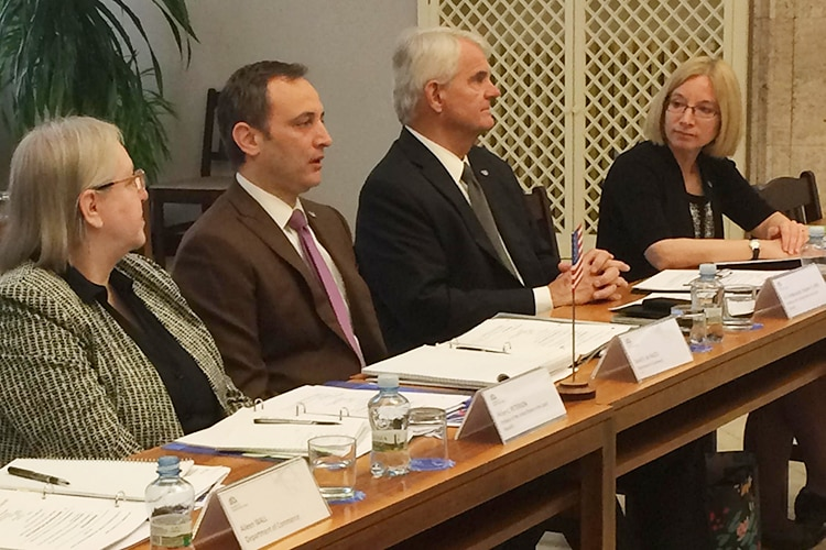 U.S. Department of Commerce Acting Deputy Assistant Secretary David de Falco visited Prague to take part in the 4th round of the U.S.-Czech Economic and Commercial Dialogue.